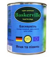 Влажный корм для собак Baskerville Ягненок и петух 400 г