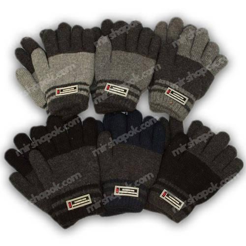 Перчатки для мальчика с подкладкой, 102-16