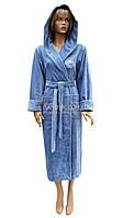 1 Халат женский Nusa (бамбуковый) № 3845-серо-голубой, фото 1