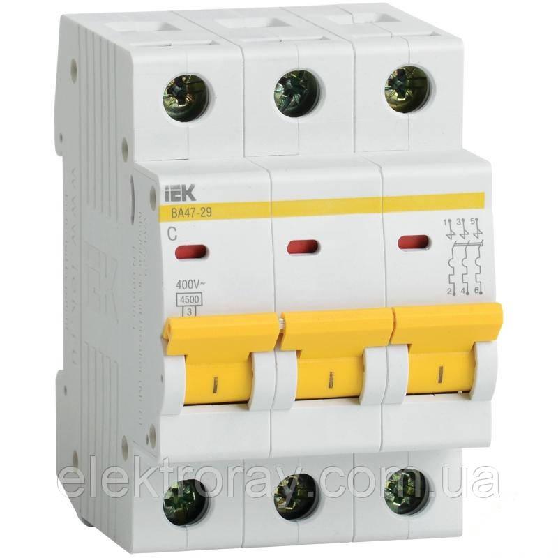 Автоматический выключатель BA47-29 3P 32А 4,5кА х-ка С IEK