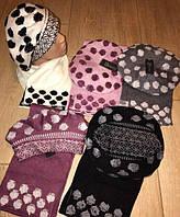 Стильный тёплый  Женский набор Берет + шарф  Состав вискоза  Объём 56-59 см еш № 0062