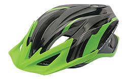 Велосипедный шлем SPELLI SBH-4000 черно-зеленый