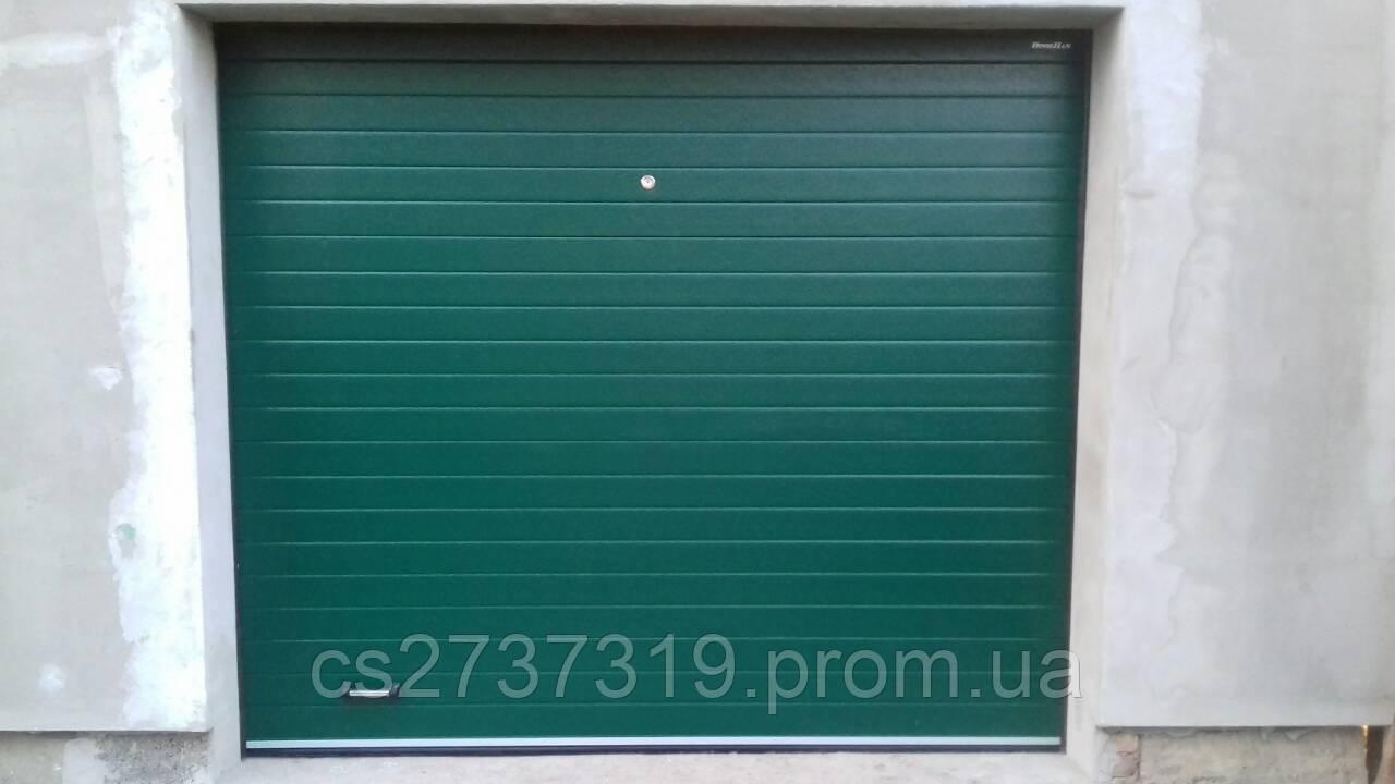 Гаражные секционные ворота автоматические DoorHan 2500*2100 Пер.50