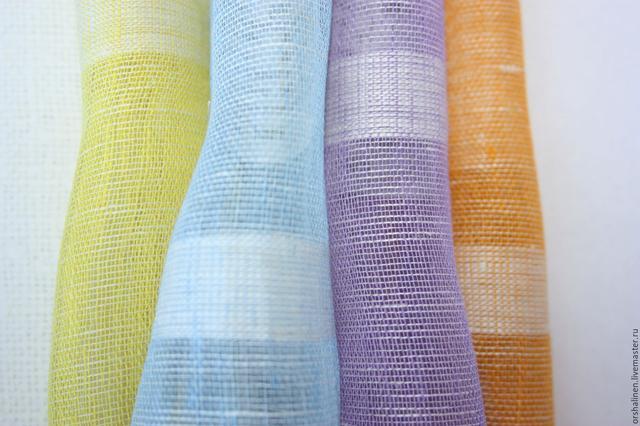 Льняная ткань для штор, тюли, драпировок