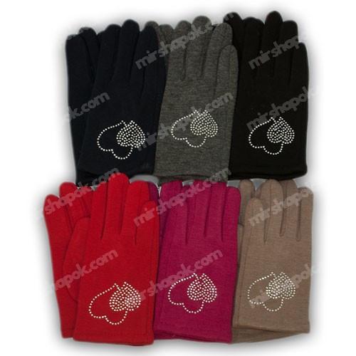 Перчатки для девочки трикотажные с подкладкой, 655-1