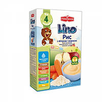 Молочная рисовая каша Lino с яблоком и морковью, 210 г