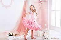 Пышная детская юбка американка Розовая