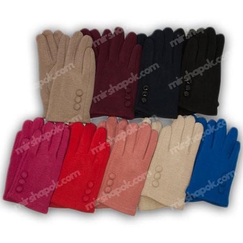Перчатки для девочки трикотажные с подкладкой, 655-2