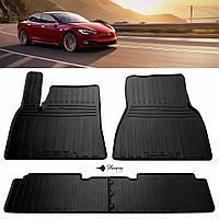 TESLA Model S 2012- Комплект из 4-х ковриков Черный в салон