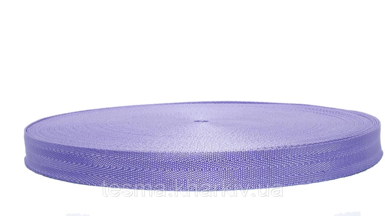 Лента ременная стропа сумочная 25 мм Ёлочка Фиолетовый