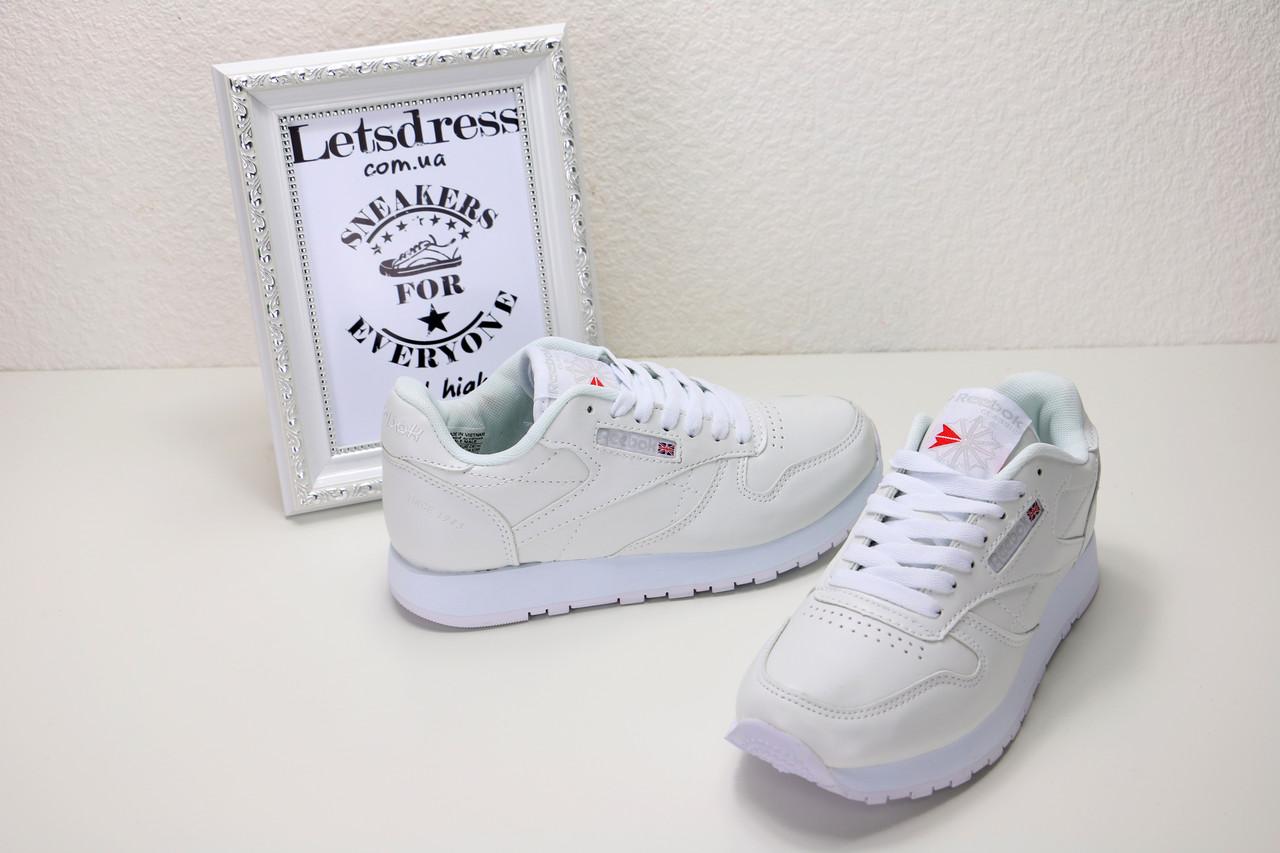7a37008a4fc3 Кроссовки Reebok Classic White Рибок кроссовки женские подростковые  оригиналы белые - LetsDress-Shop в