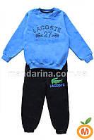 """Костюм для мальчика """" Lacoste"""" трехнитка с начесом 7-8 лет (128 размер)"""