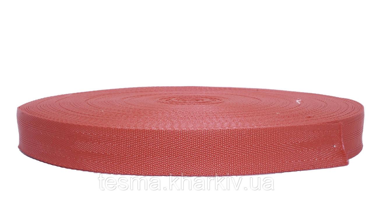 Лента ременная стропа сумочная 25 мм Ёлочка Красный