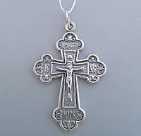 Серебряный крест православный 2-х сторонний Арт.БР-0042531