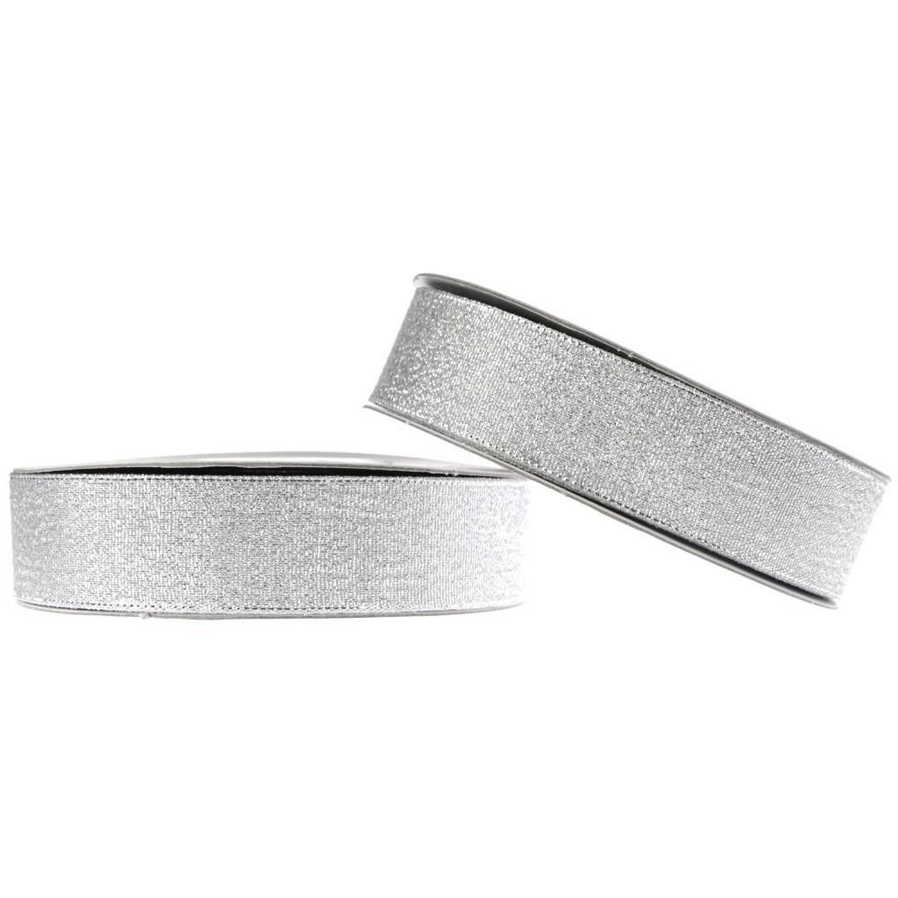 Парчовая лента серебряная (25 мм)