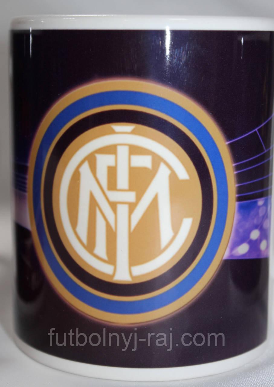 Чашка чайная футбольная с изображением символики FC Inter