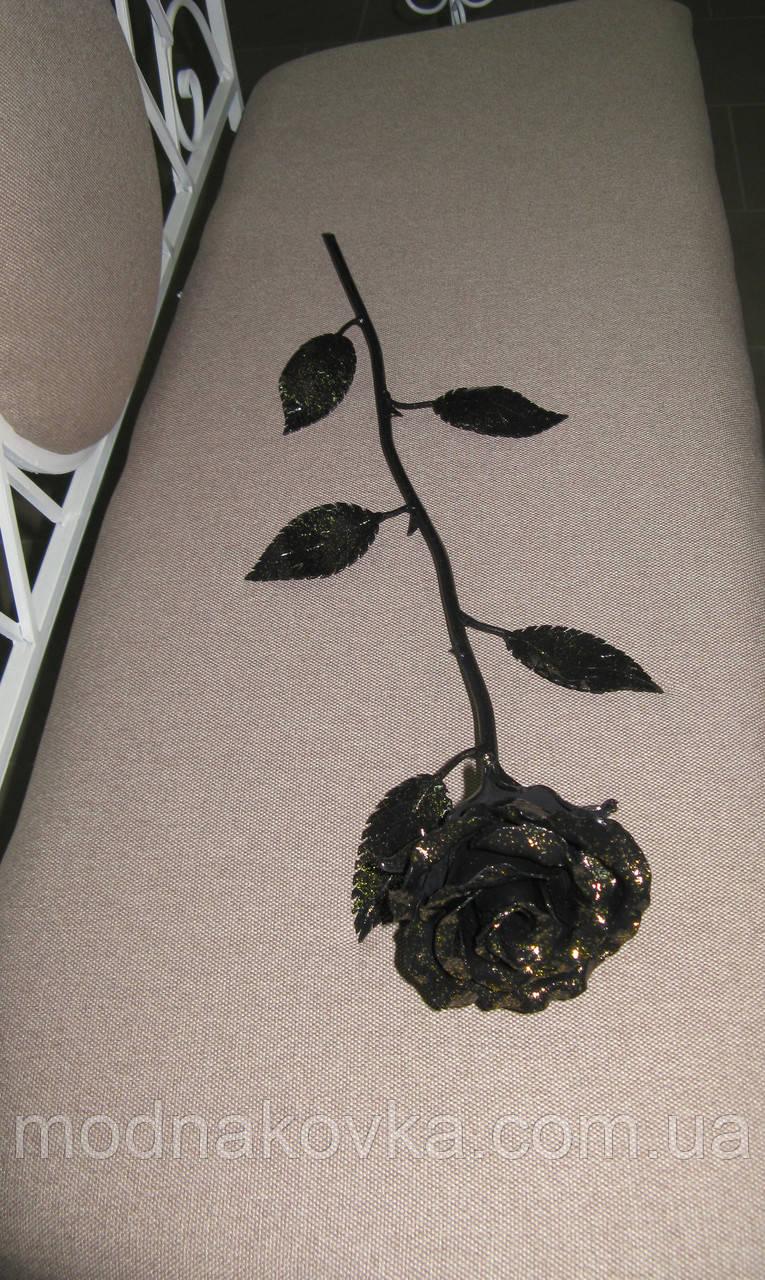Роза кованая золото Горячая художественная ковка