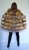 Женский полушубок из меха лисы с коротким рукавом, фото 2