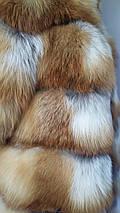 Женский полушубок из меха лисы с коротким рукавом, фото 3