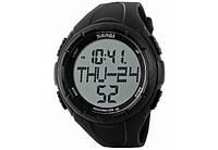 Часы водонепроницаемые спортивные Skmei Black 1122BOXBK