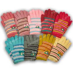 Детские перчатки утепленные для девочки, C17