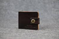 Классическое мужское портмоне (с карманом для мелочи) |10466| Италия | Вишня