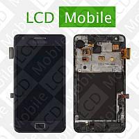 Дисплей для Samsung Galaxy S2 Plus I9105 с сенсорным экраном, темно-синий с рамкой, модуль, дисплей + тачскрин