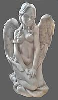 Скульптура Ангел молится №21 (мрамор белый) 25 см.