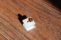 Кольцо серебро мексиканский огненный агат