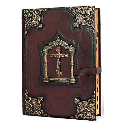 Библия кожаная с литьем