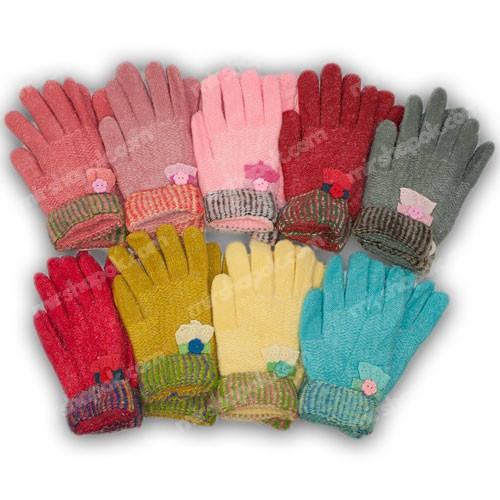 Детские перчатки утепленные для девочки, C18