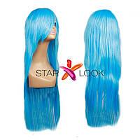 Парик искусственный голубой 80 см