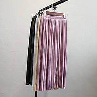Плиссированная юбка длина миди, много цветов В30309, фото 1