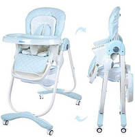 Детский стульчик для кормления Bambi Голубой Dolce (M 3236-4) с мягким сиденьем, фото 1