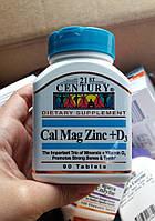Кальций Магний Цинк + D3 21st Century Cal Mag Zinc+D3 90 шт