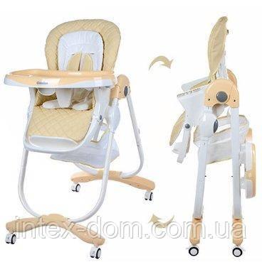 Стульчик для кормления Bambi Бежевый Dolce (M 3236-5) с мягким сиденьем