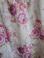 Штора розово-сиреневый букет ш. 150 см