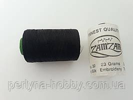 Нитки шовкові ( віскоза ) для вишивання, для  ручної роботи, 23 грам. Індія Чорні.