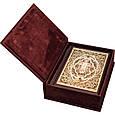 Библия с литьем и филигранью(золото) и гранатами в замшевой шкатулке, фото 2