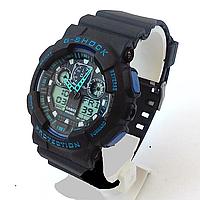 Мужские часы Casio G-Shock GA 100 Black Blue