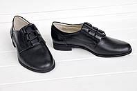 Женские классические туфли  низкий ход из натуральной кожи