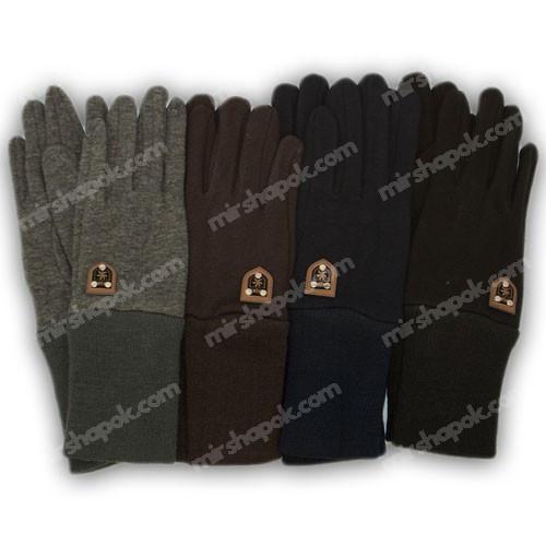 Перчатки для мальчика трикотажные с подкладкой и манжетом, M03-S