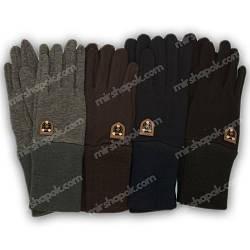 Перчатки для мальчика трикотажные с подкладкой и манжетом, M04-L