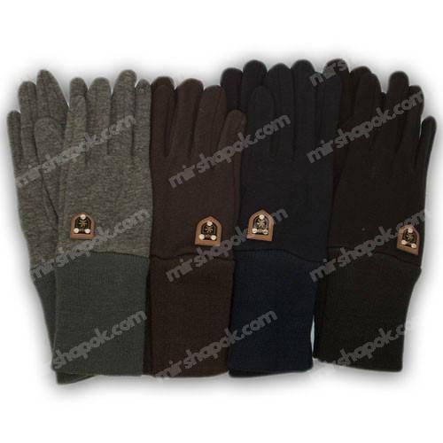 Перчатки для мальчика трикотажные с подкладкой и манжетом, M03-L