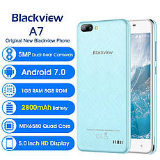 Blackview A7 синій, MT6580A, 1GB/8GB + силіконовий чохол, фото 3