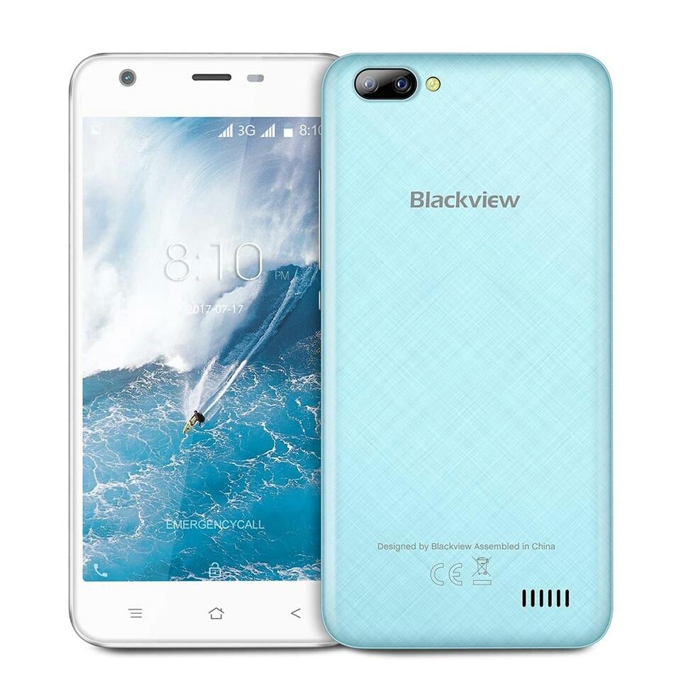Blackview A7 синій, MT6580A, 1GB/8GB + силіконовий чохол