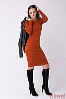 Теплое женское платье весна-осень