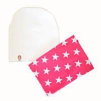 Набір шапка і снуд дитячий осінній для дівчинки