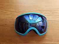 Стильная маска Be Nice в рамке. Для лыжников и сноубордистов. Голубая рамка