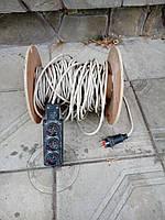 Удлинитель электрический на катушке 20м, 3 розетки